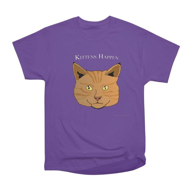 Kittens Happen Men's Heavyweight T-Shirt by Every Drop's An Idea's Artist Shop