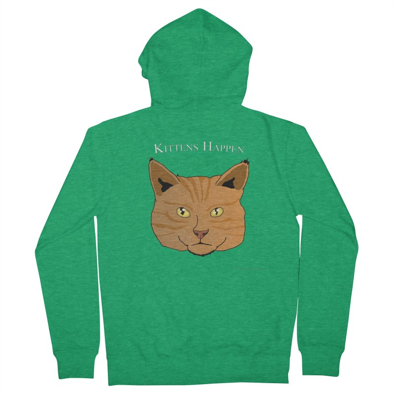 Kittens Happen Women's French Terry Zip-Up Hoody by Every Drop's An Idea's Artist Shop