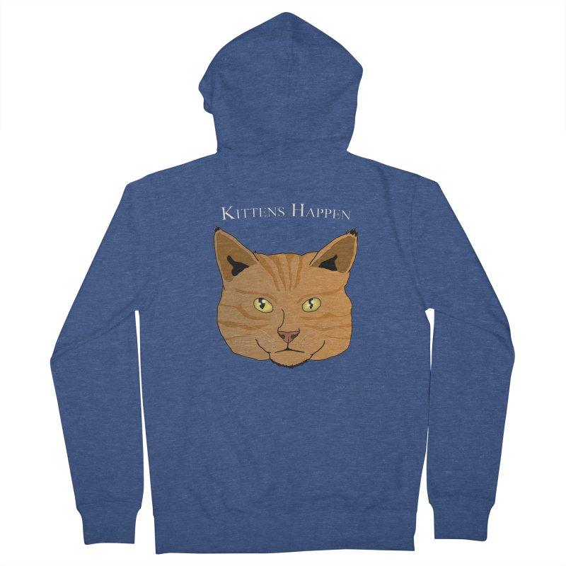Kittens Happen Women's Zip-Up Hoody by Every Drop's An Idea's Artist Shop