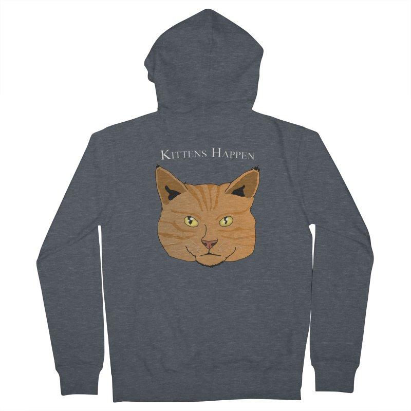 Kittens Happen Women's French Terry Zip-Up Hoody by Every Drop's An Idea's Artist Shop