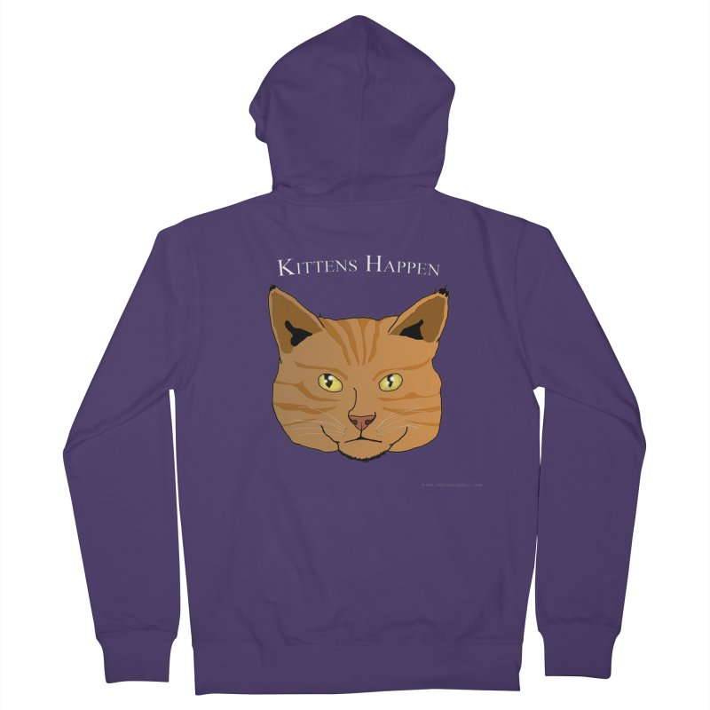 Kittens Happen Women's Zip-Up Hoody by Every Drop's An Idea's Artist Shop