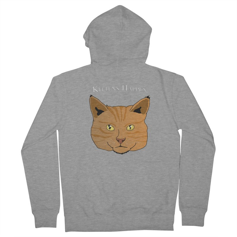 Kittens Happen Men's French Terry Zip-Up Hoody by Every Drop's An Idea's Artist Shop