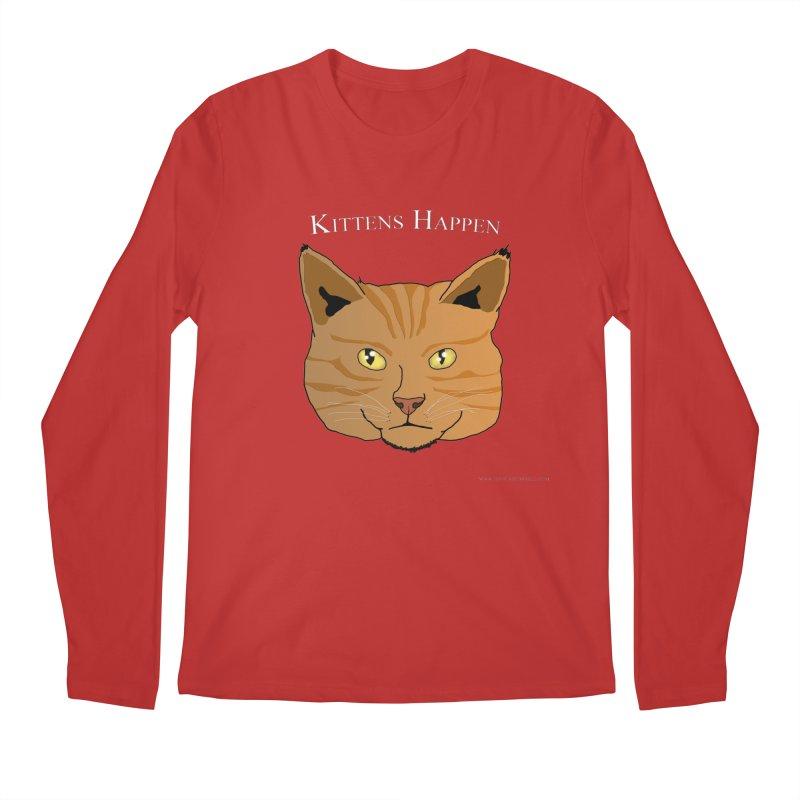 Kittens Happen Men's Regular Longsleeve T-Shirt by Every Drop's An Idea's Artist Shop