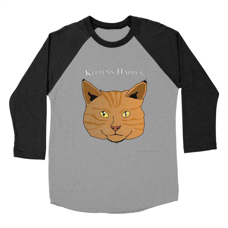 Kittens Happen Women's Baseball Triblend Longsleeve T-Shirt by Every Drop's An Idea's Artist Shop