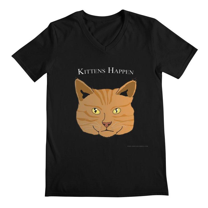 Kittens Happen Men's V-Neck by Every Drop's An Idea's Artist Shop