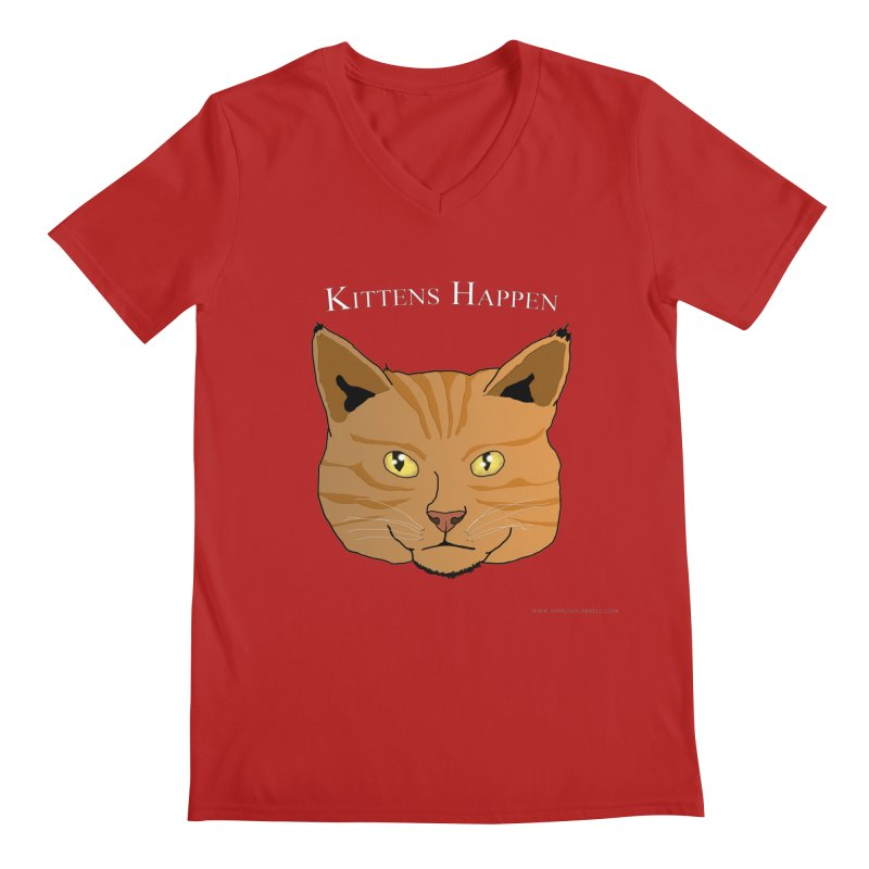 Kittens Happen Men's V-Neck by Every Drop's An Idea's Artist Shop