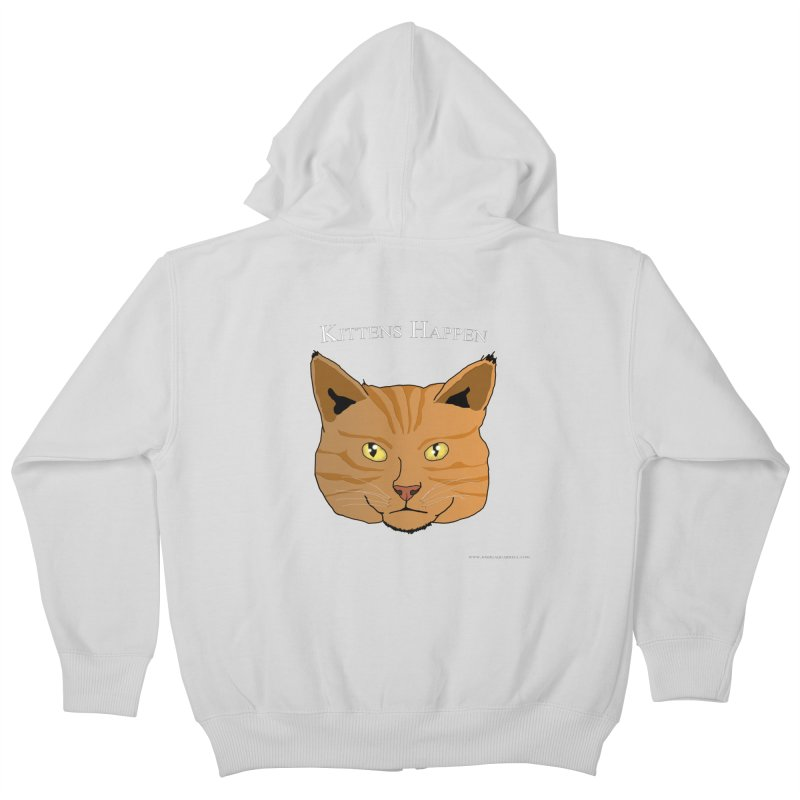 Kittens Happen Kids Zip-Up Hoody by Every Drop's An Idea's Artist Shop