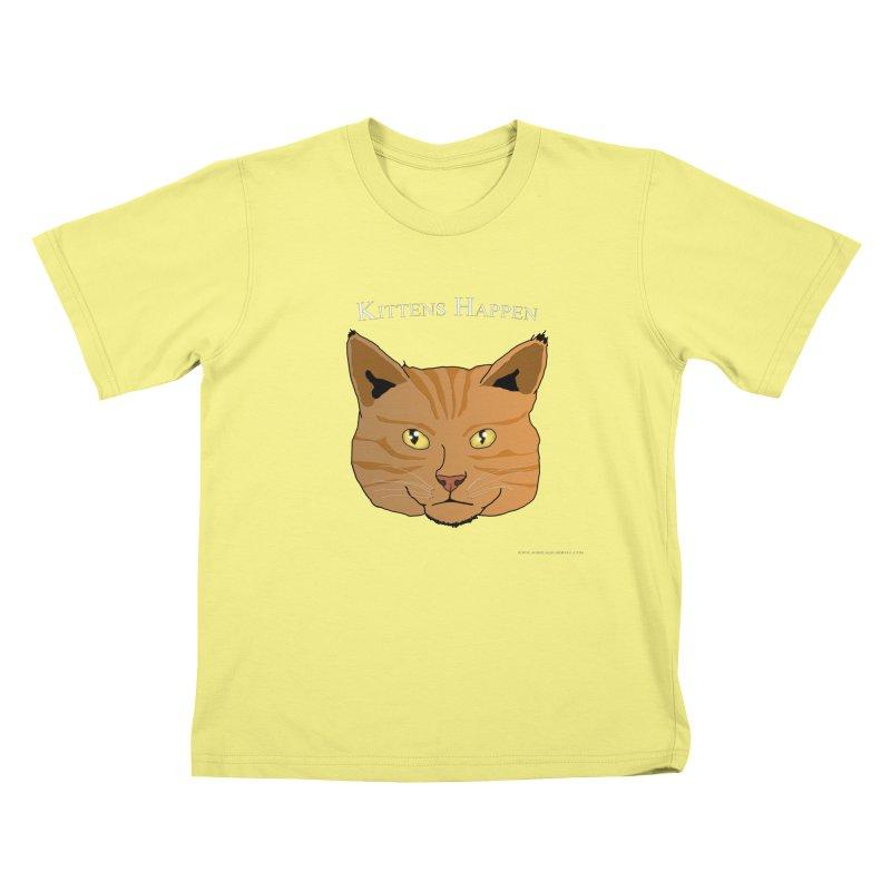 Kittens Happen Kids T-shirt by Every Drop's An Idea's Artist Shop