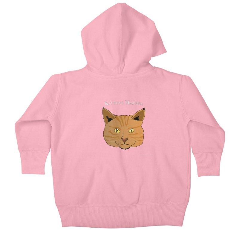 Kittens Happen Kids Baby Zip-Up Hoody by Every Drop's An Idea's Artist Shop
