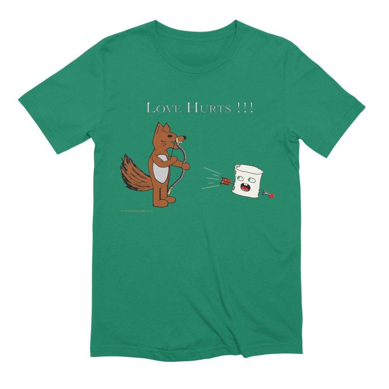 Love Hurts!!! Men's Extra Soft T-Shirt by Every Drop's An Idea's Artist Shop