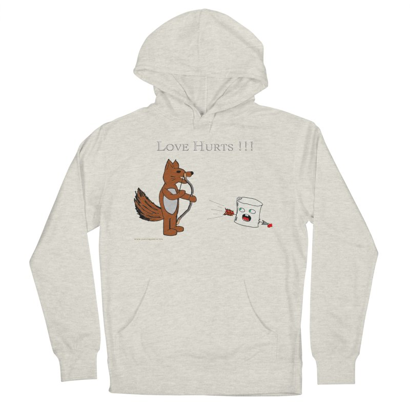 Love Hurts!!! Women's French Terry Pullover Hoody by Every Drop's An Idea's Artist Shop