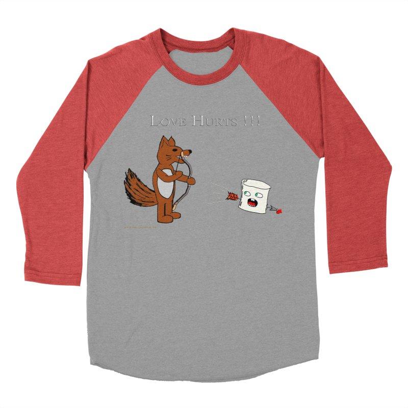 Love Hurts!!! Women's Baseball Triblend Longsleeve T-Shirt by Every Drop's An Idea's Artist Shop