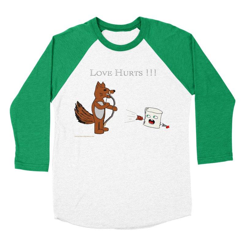 Love Hurts!!! Men's Baseball Triblend Longsleeve T-Shirt by Every Drop's An Idea's Artist Shop
