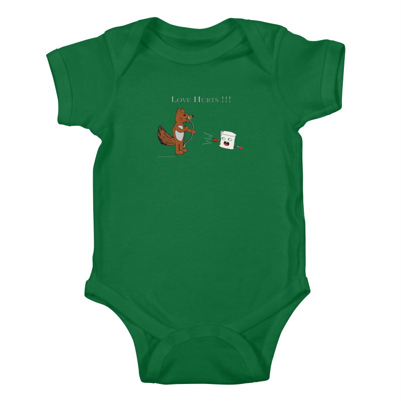 Love Hurts!!! Kids Baby Bodysuit by Every Drop's An Idea's Artist Shop