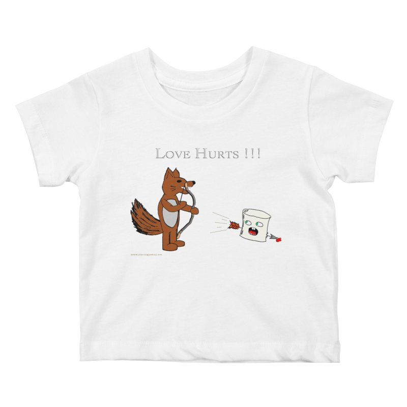 Love Hurts!!! Kids Baby T-Shirt by Every Drop's An Idea's Artist Shop
