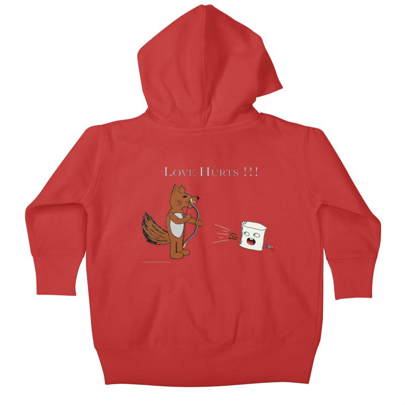 Love Hurts!!! Kids Baby Zip-Up Hoody by Every Drop's An Idea's Artist Shop