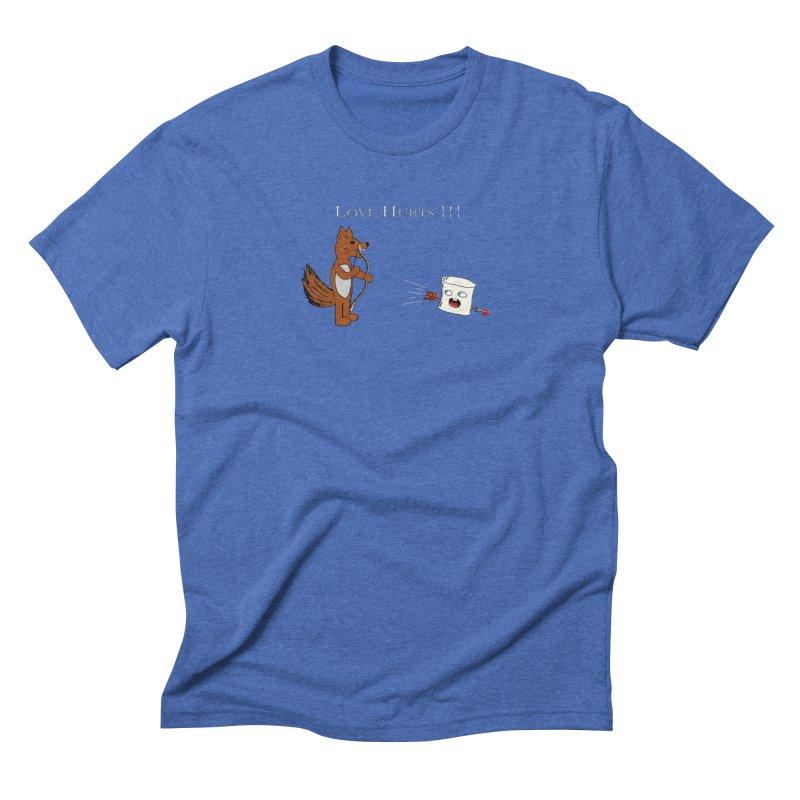 Love Hurts!!! Men's Triblend T-Shirt by Every Drop's An Idea's Artist Shop
