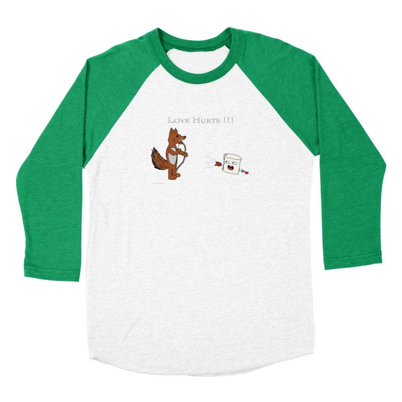 Love Hurts!!! Men's Baseball Triblend T-Shirt by Every Drop's An Idea's Artist Shop