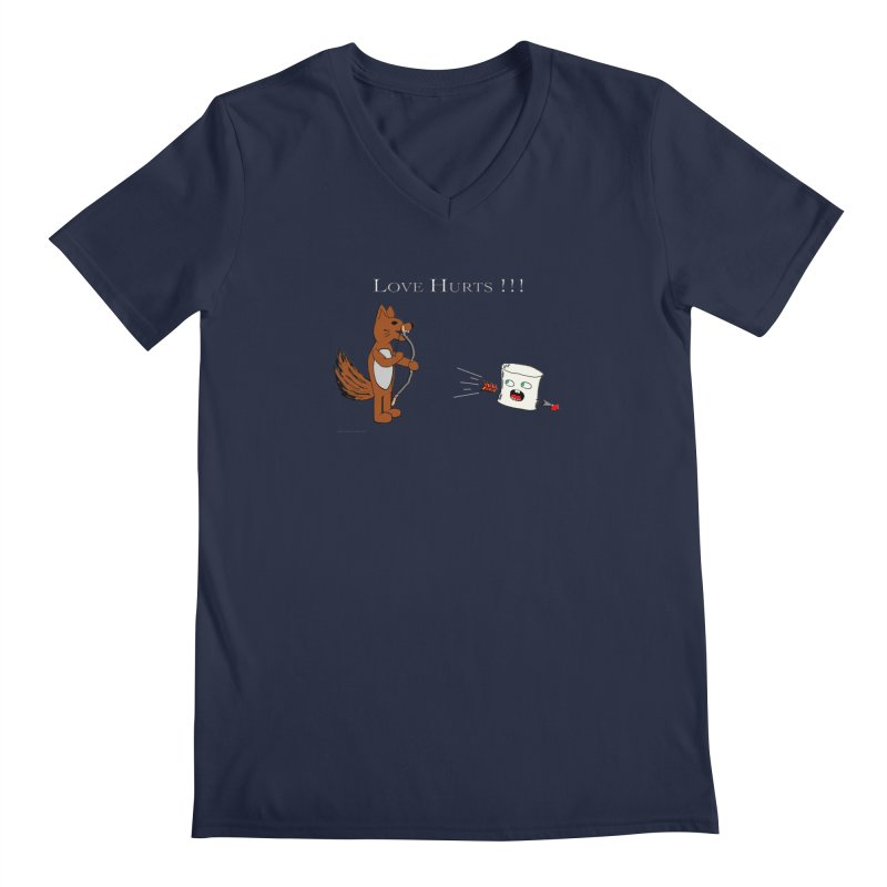 Love Hurts!!! Men's V-Neck by Every Drop's An Idea's Artist Shop