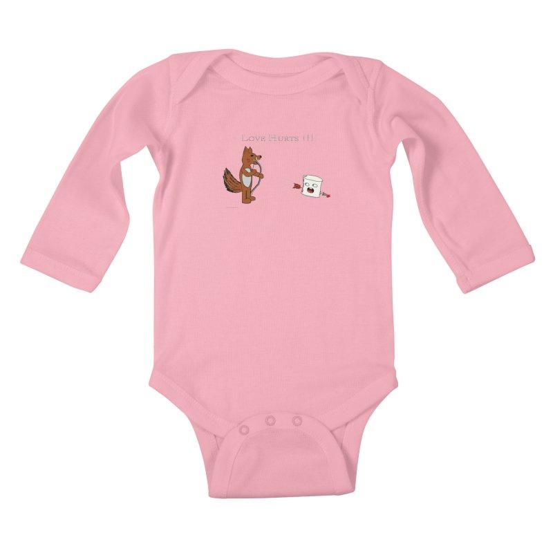 Love Hurts!!! Kids Baby Longsleeve Bodysuit by Every Drop's An Idea's Artist Shop