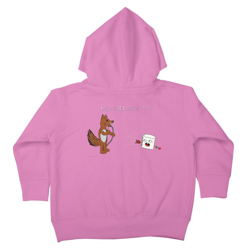 Love Hurts!!! Kids Toddler Zip-Up Hoody by Every Drop's An Idea's Artist Shop