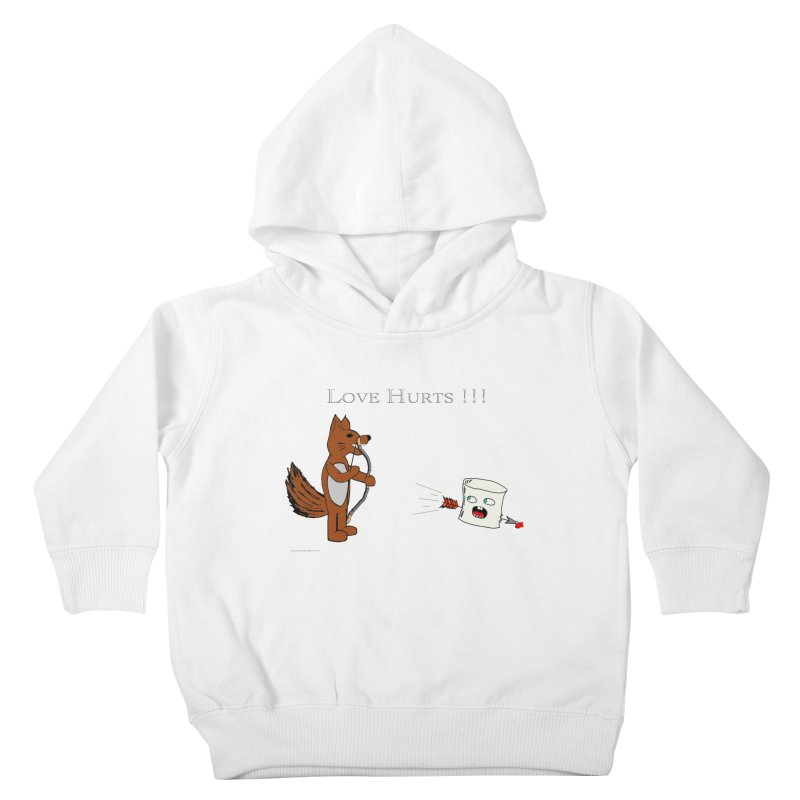 Love Hurts!!! Kids Toddler Pullover Hoody by Every Drop's An Idea's Artist Shop