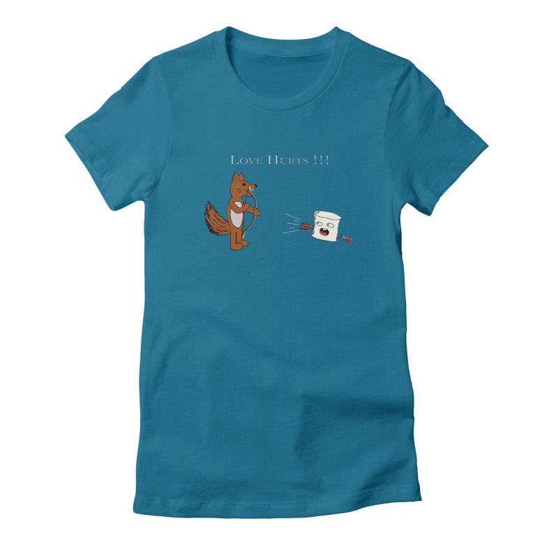 Love Hurts!!! Women's Fitted T-Shirt by Every Drop's An Idea's Artist Shop
