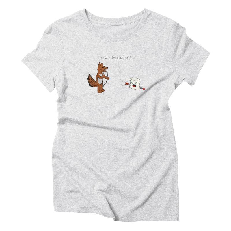 Love Hurts!!! Women's Triblend T-shirt by Every Drop's An Idea's Artist Shop