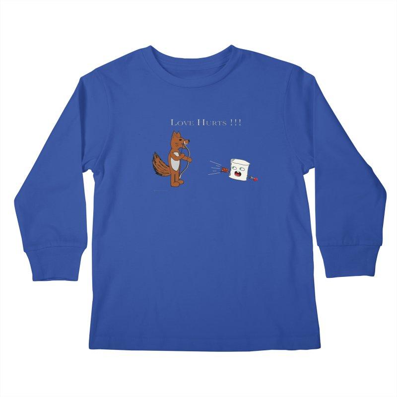 Love Hurts!!! Kids Longsleeve T-Shirt by Every Drop's An Idea's Artist Shop