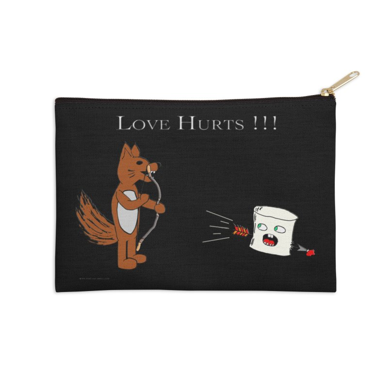 Love Hurts!!! Accessories Zip Pouch by Every Drop's An Idea's Artist Shop