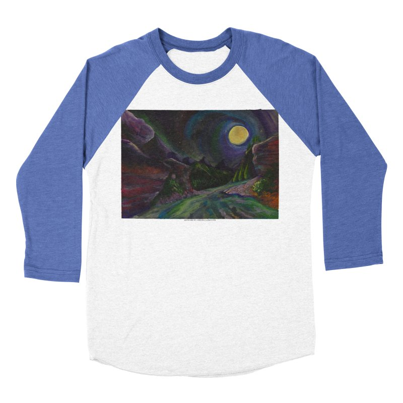 Into the Night Women's Baseball Triblend T-Shirt by Every Drop's An Idea's Artist Shop