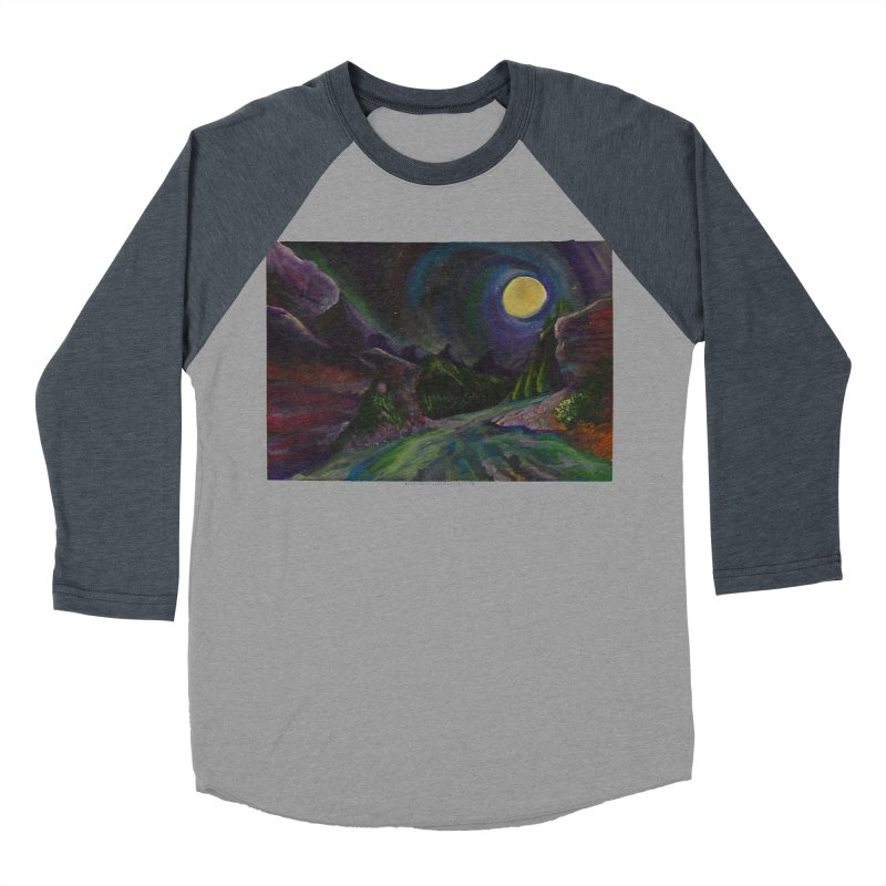 Into the Night Men's Baseball Triblend T-Shirt by Every Drop's An Idea's Artist Shop