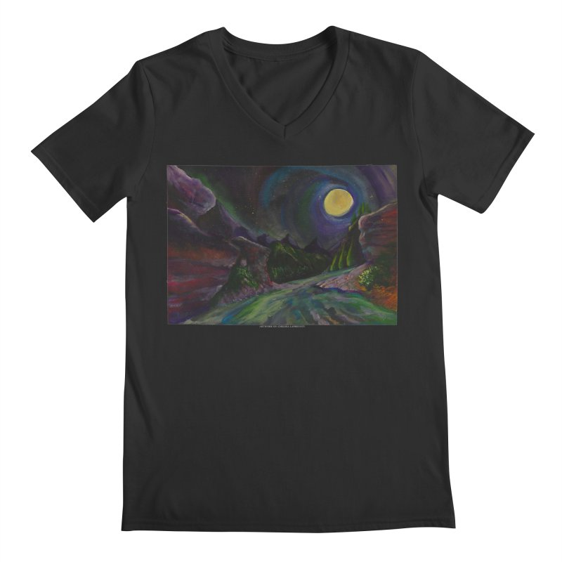 Into the Night Men's V-Neck by Every Drop's An Idea's Artist Shop