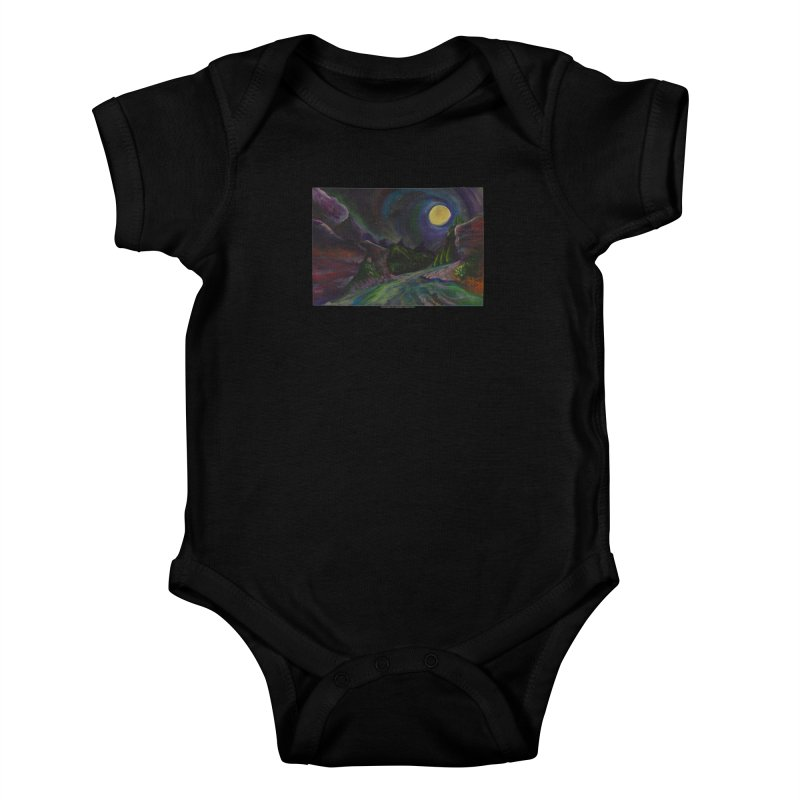 Into the Night Kids Baby Bodysuit by Every Drop's An Idea's Artist Shop