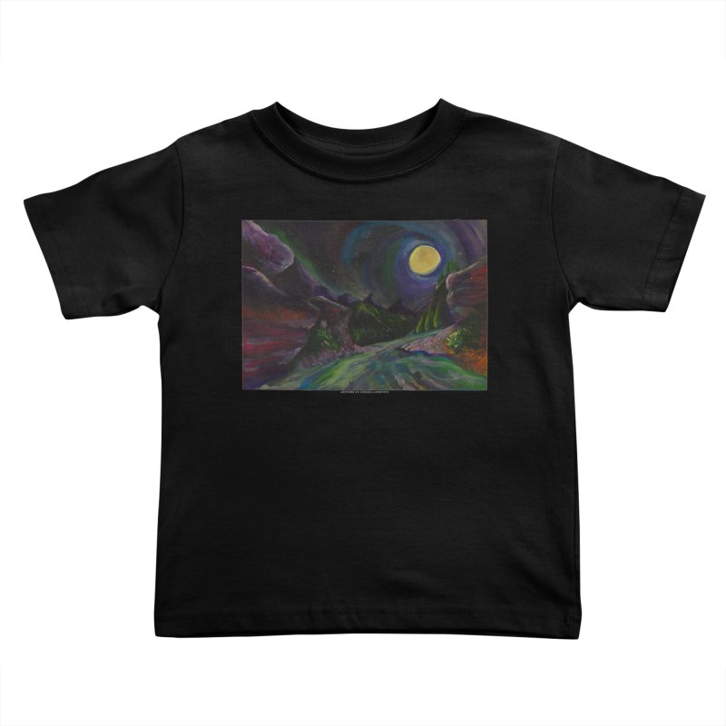 Into the Night Kids Toddler T-Shirt by Every Drop's An Idea's Artist Shop