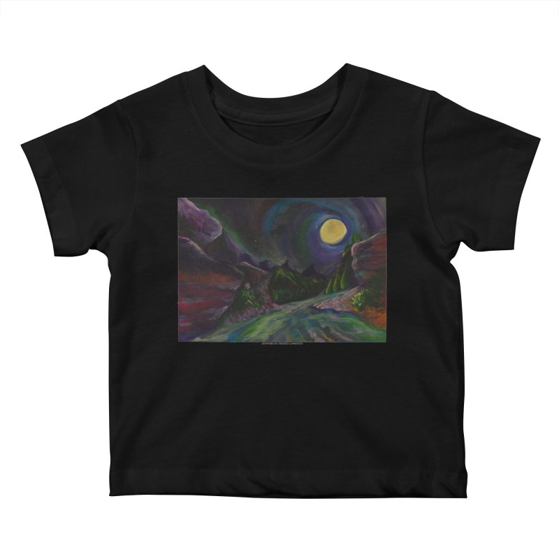Into the Night Kids Baby T-Shirt by Every Drop's An Idea's Artist Shop