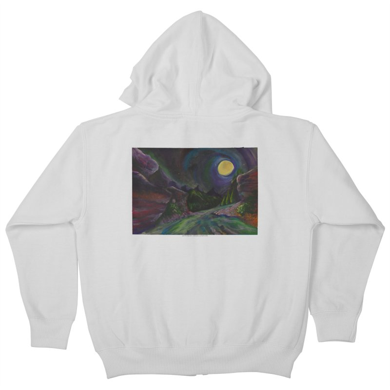 Into the Night Kids Zip-Up Hoody by Every Drop's An Idea's Artist Shop