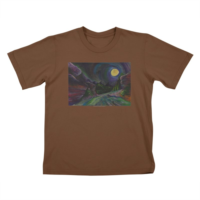 Into the Night Kids T-shirt by Every Drop's An Idea's Artist Shop