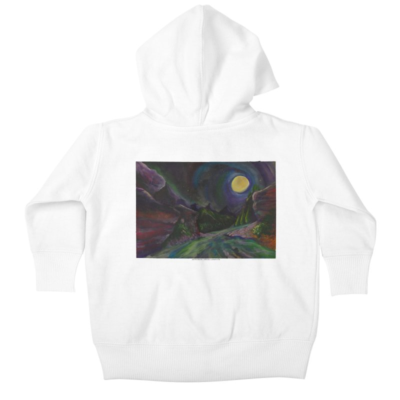 Into the Night Kids Baby Zip-Up Hoody by Every Drop's An Idea's Artist Shop