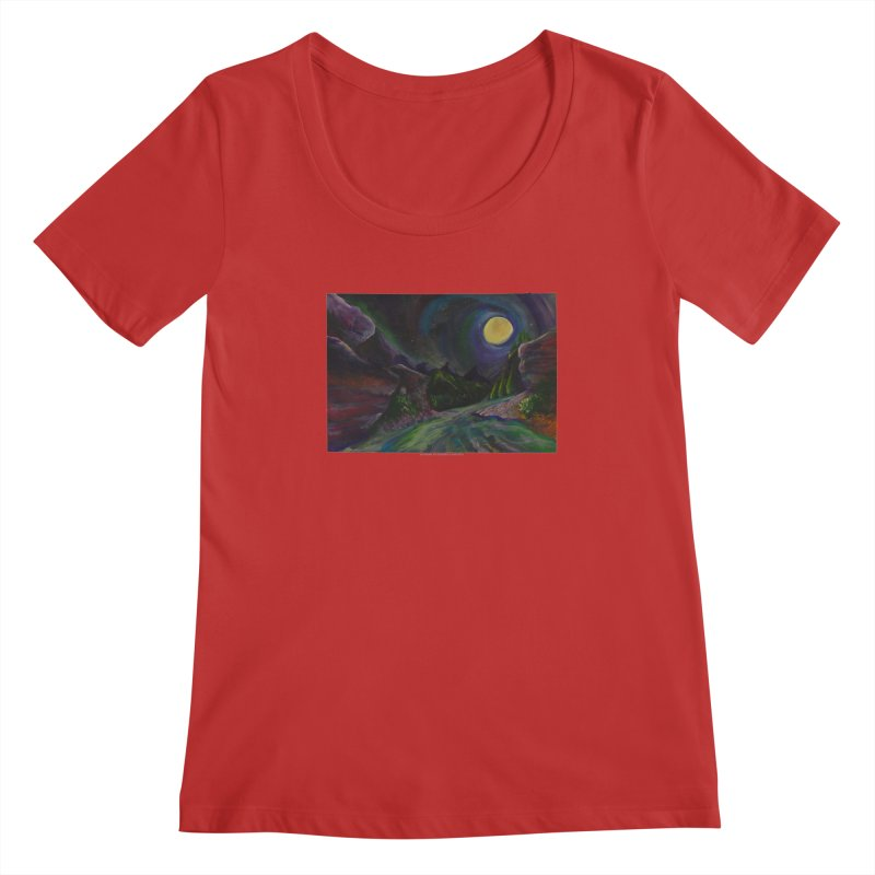 Into the Night Women's Scoopneck by Every Drop's An Idea's Artist Shop