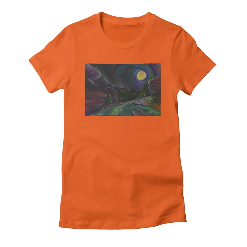 Into the Night Women's Fitted T-Shirt by Every Drop's An Idea's Artist Shop
