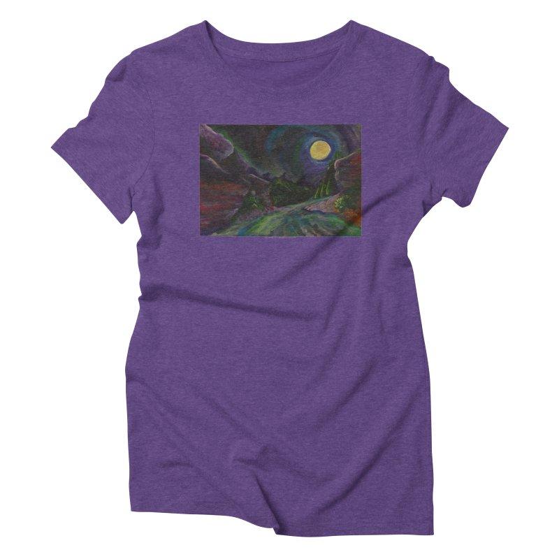 Into the Night Women's Triblend T-shirt by Every Drop's An Idea's Artist Shop