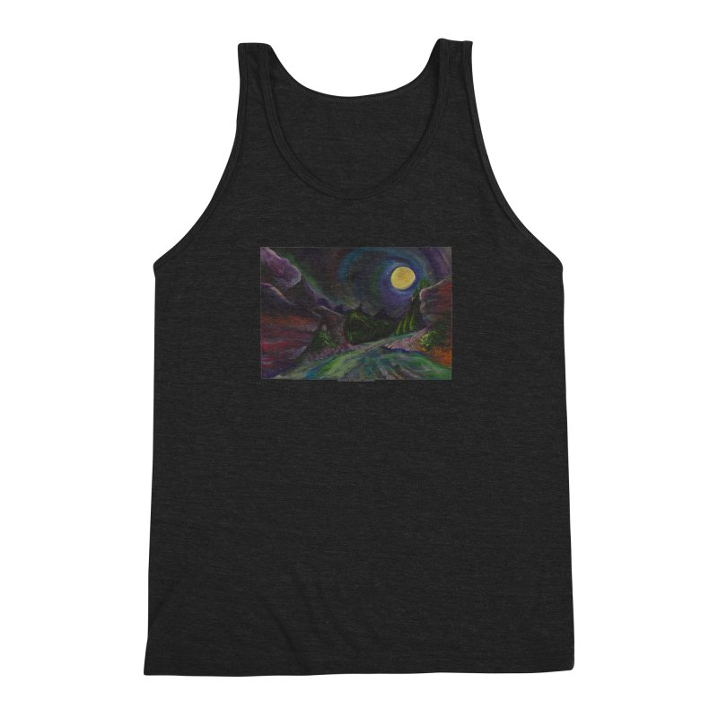 Into the Night Men's Triblend Tank by Every Drop's An Idea's Artist Shop