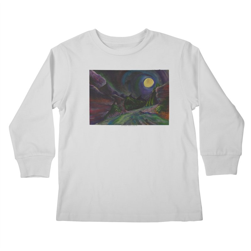 Into the Night Kids Longsleeve T-Shirt by Every Drop's An Idea's Artist Shop