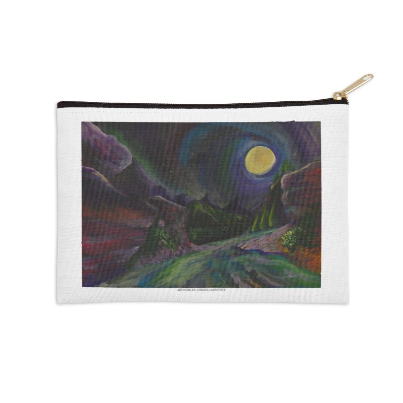 Into the Night Accessories Zip Pouch by Every Drop's An Idea's Artist Shop