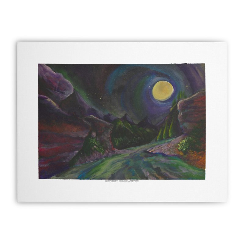 Into the Night Home Stretched Canvas by Every Drop's An Idea's Artist Shop