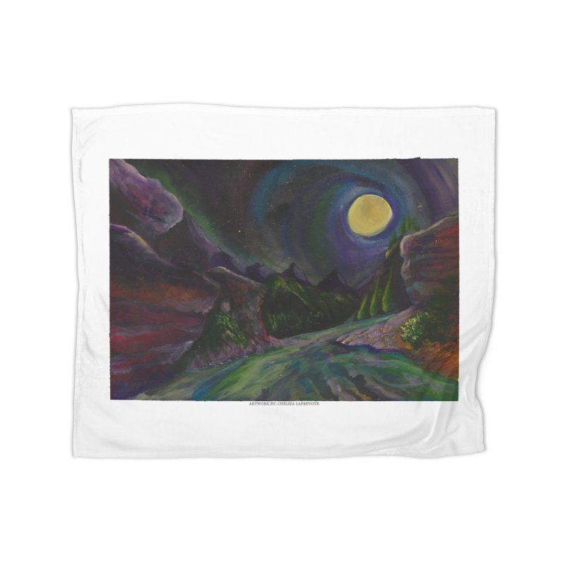 Into the Night Home Fleece Blanket by Every Drop's An Idea's Artist Shop