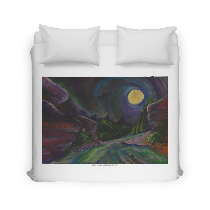 Into the Night Home Duvet by Every Drop's An Idea's Artist Shop