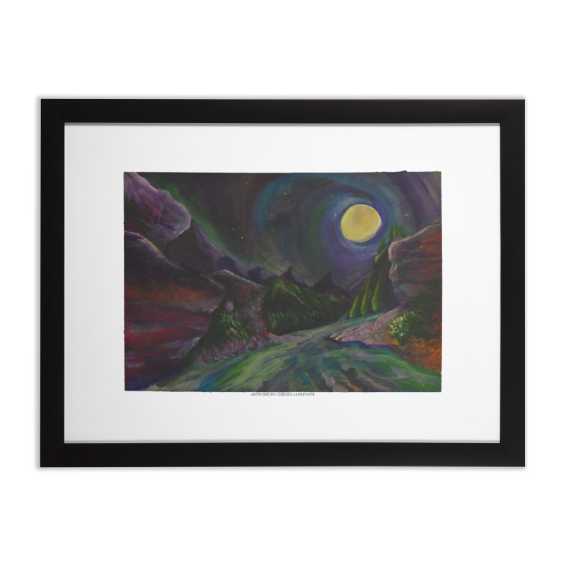 Into the Night Home Framed Fine Art Print by Every Drop's An Idea's Artist Shop