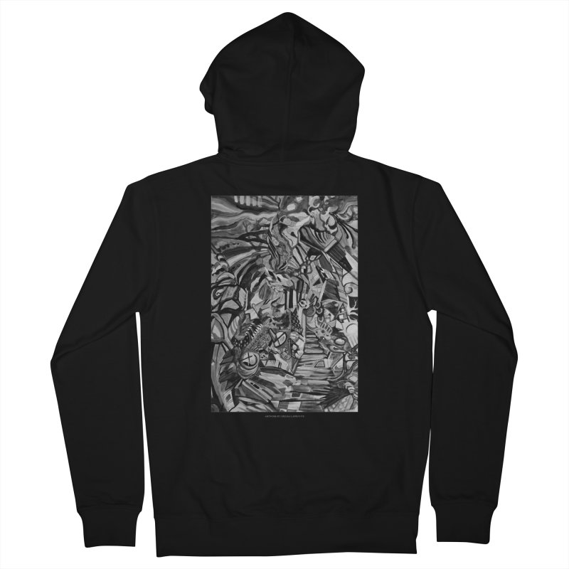 Claustrophobia (B&W) Women's Zip-Up Hoody by Every Drop's An Idea's Artist Shop